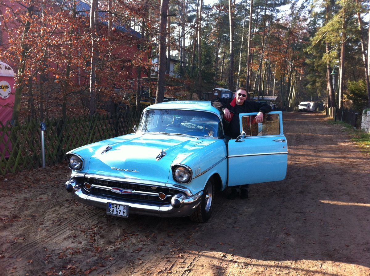 Mein Chevy 57 Two-Ten und meiner einer bei der letzen Ausfahrt 2011